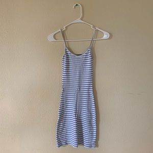 Brandy Melville Blue and White Striped Kyran Dress